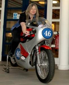 AF on bike at T100 Press Conference 2012