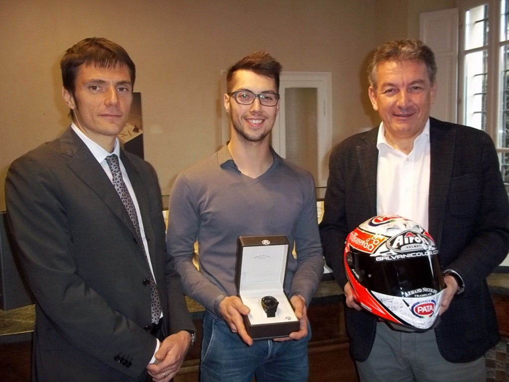 CEO Armand Nicolet with Lorenzo zanetti