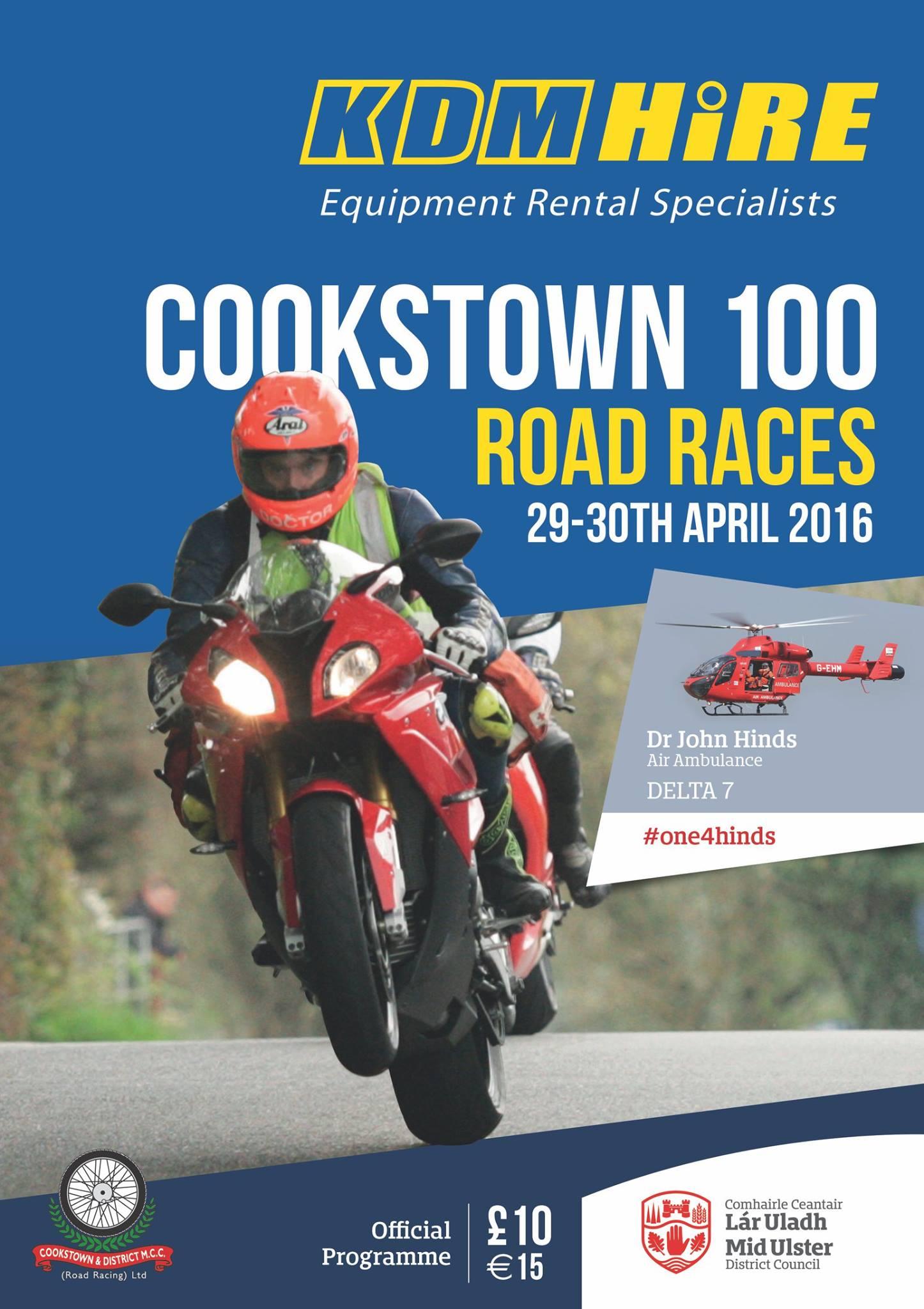 Cookstown100-programma