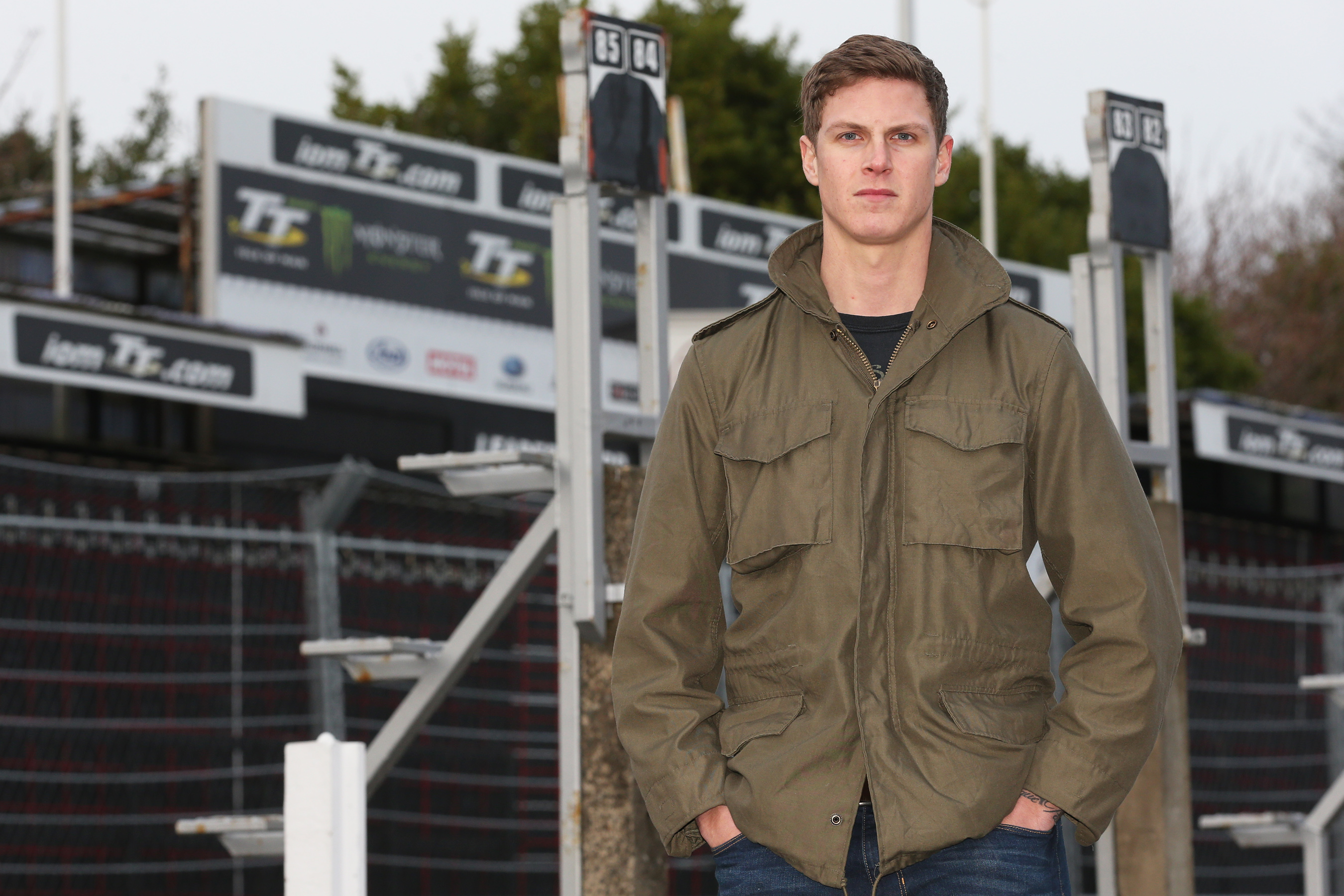 27/2/2016: Manx Grand Prix Junior Race Winner Billy Redmayne pictured at the TT Grandstand. PICTURE BY DAVE KNEEN